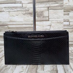 Michael Kors Leather Python Jet Set Slim Wallet